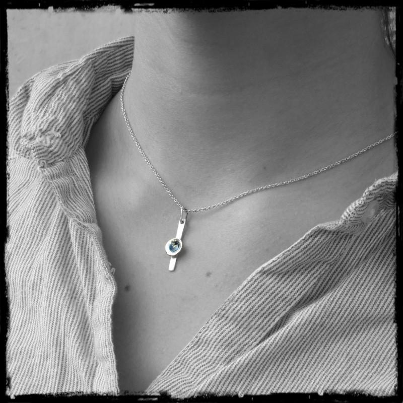 collier original argent femme