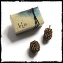 """Boucles d'oreilles courtes """"Petites fleurs"""" simple Emaux sur cuivre   tige argent 950 - Romantiques"""