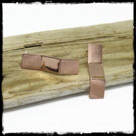 Boucles d'oreilles design origami de cuivre - modernes et contemporaines - cuivre poli et brossé mat