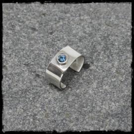 Ear cuff bague d'oreille en Argent massif et pierre Gemme au choix
