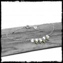 Bracelet bohème romantique en argent massif et perles de verre
