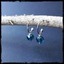 Boucles d'oreilles anneau ouvert style bohème en argent massif et péridots