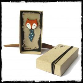 Marque-Page renard Signet original animal emaux sur cuivre