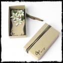Marque-Page fleurs de lys en emaux sur cuivre fait main - bijoux de livre