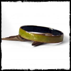 Wide bangle bracelet copper covered with enamel - color on order -